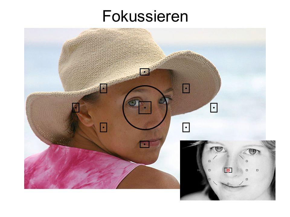 Fokussieren Bei offener Blende (=geringe Tiefenschärfe) ist es wichtig, genau zu fokussieren (bei Portraits: auf die Augen).