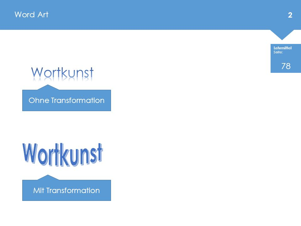 Word Art 78 Wortkunst Ohne Transformation Wortkunst Mit Transformation