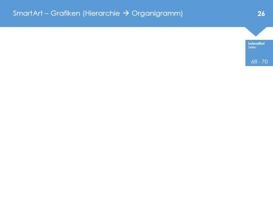 SmartArt – Grafiken (Hierarchie  Organigramm)