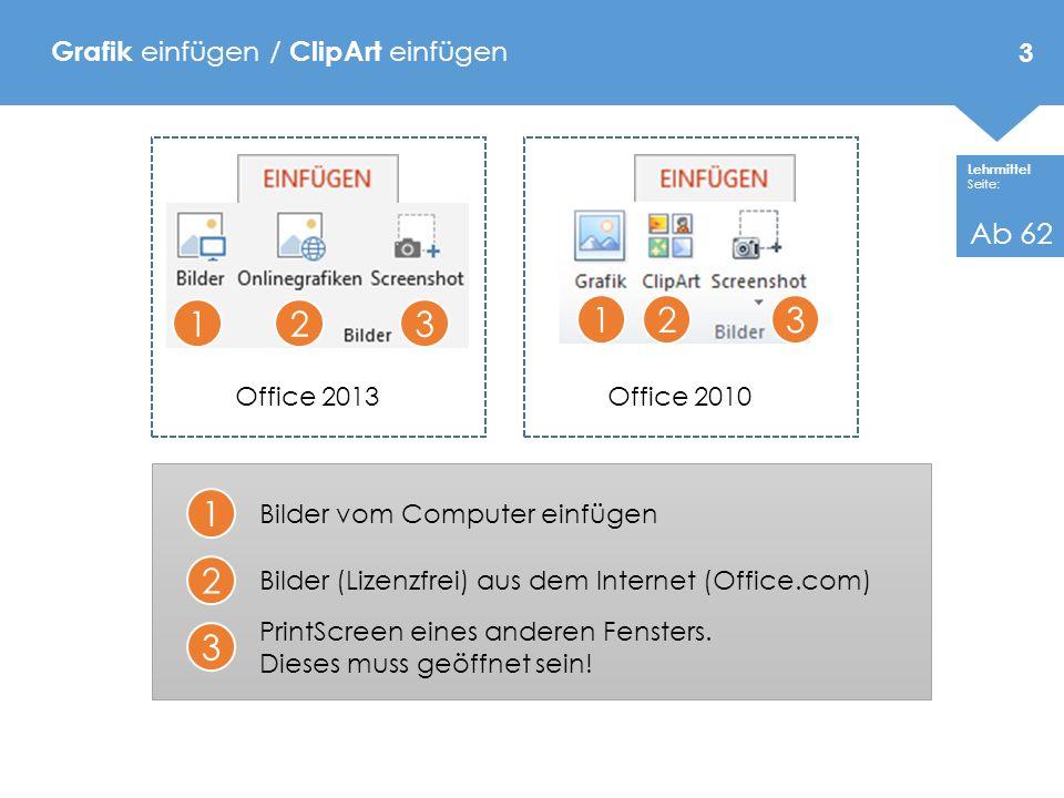 Grafik einfügen / ClipArt einfügen
