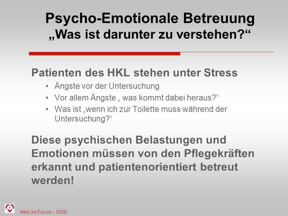 """Psycho-Emotionale Betreuung """"Was ist darunter zu verstehen"""