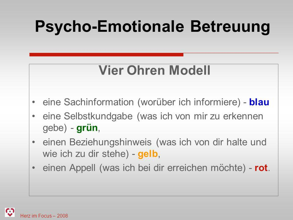 Psycho-Emotionale Betreuung