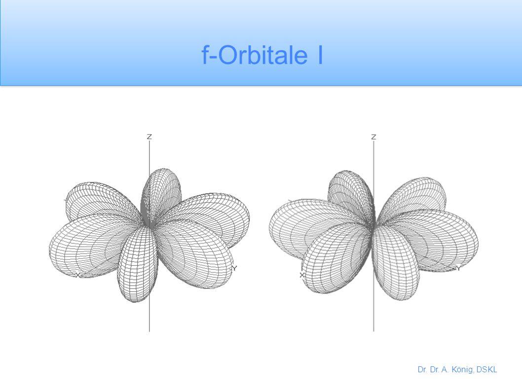 f-Orbitale I