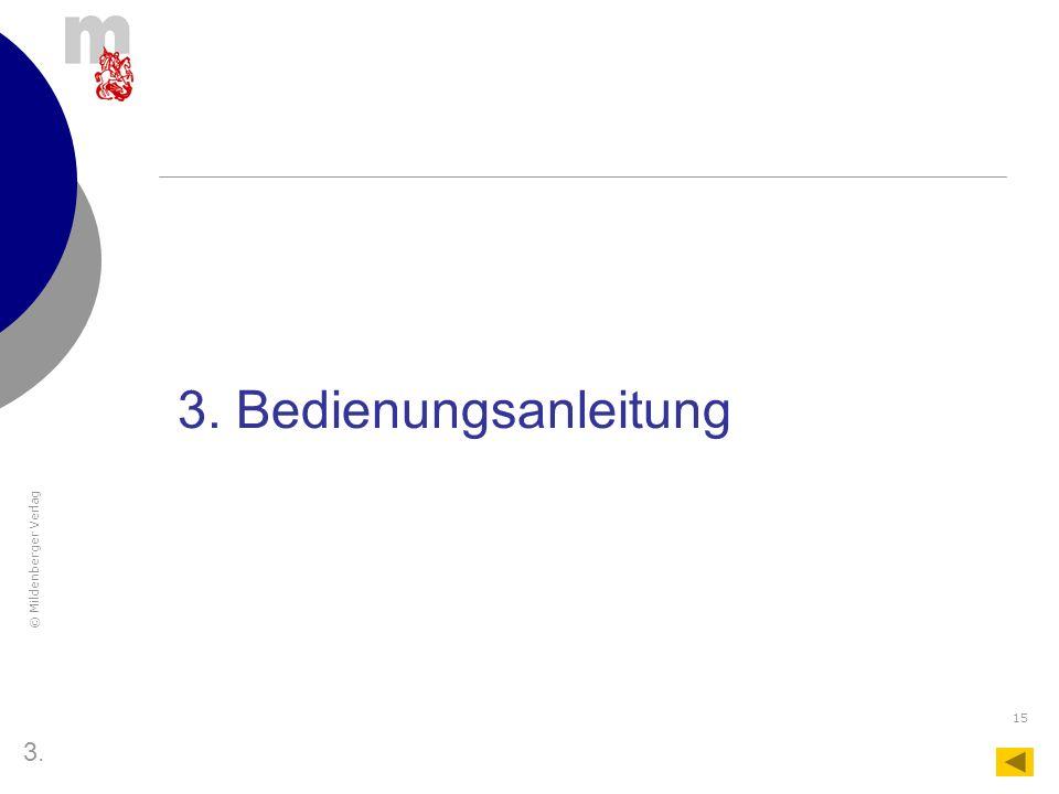 3. Bedienungsanleitung 3.