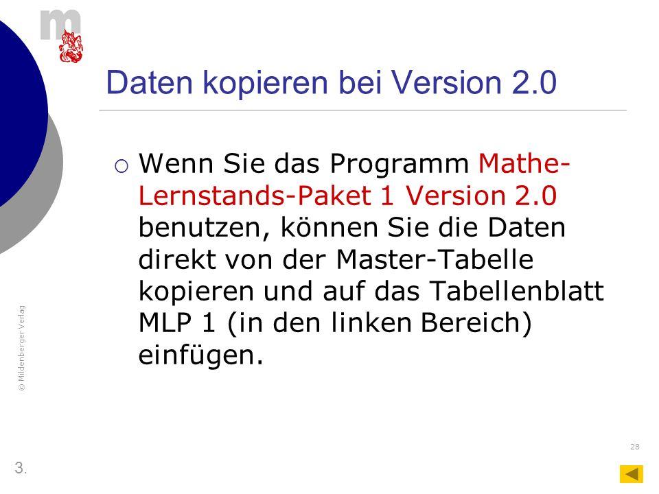 Daten kopieren bei Version 2.0