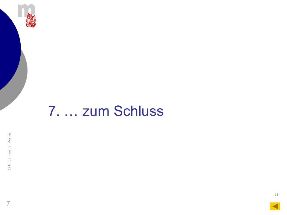 7. … zum Schluss 7.