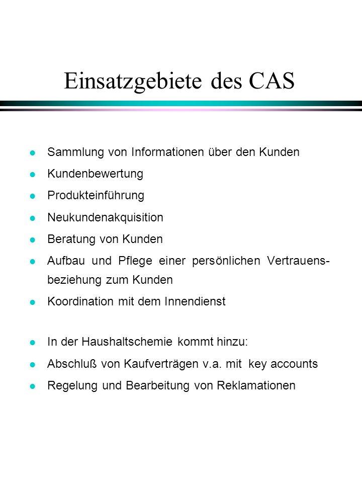 Einsatzgebiete des CAS