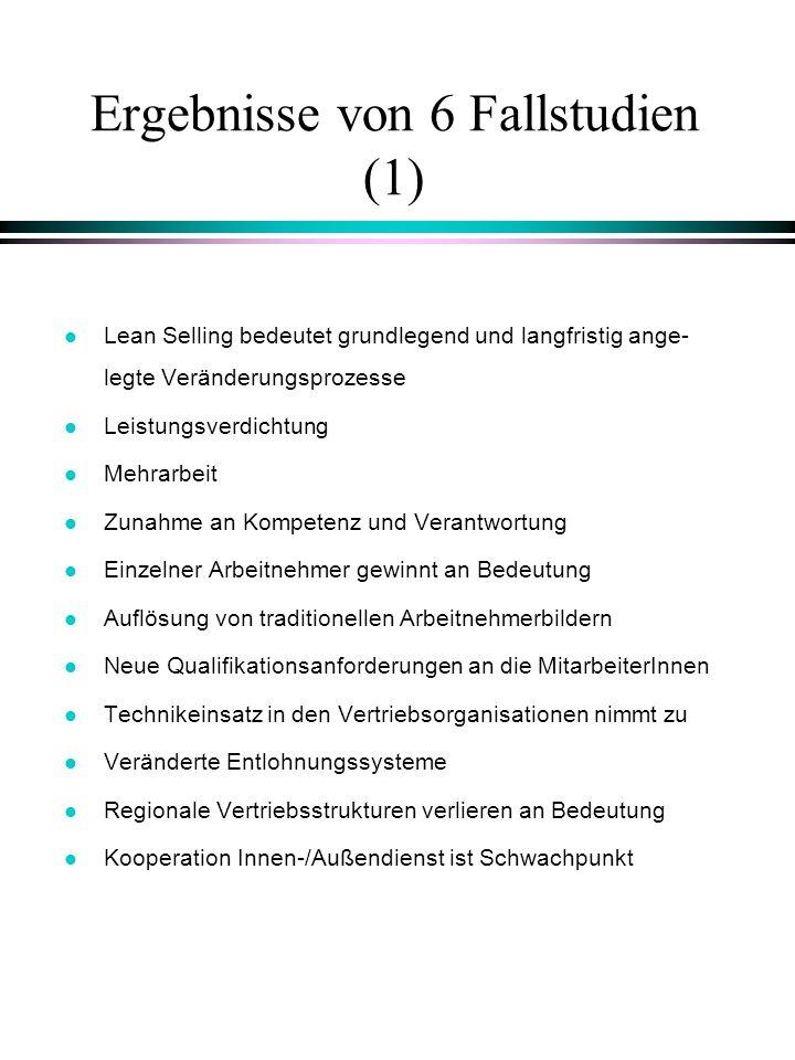 Ergebnisse von 6 Fallstudien (1)
