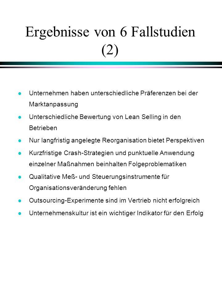 Ergebnisse von 6 Fallstudien (2)
