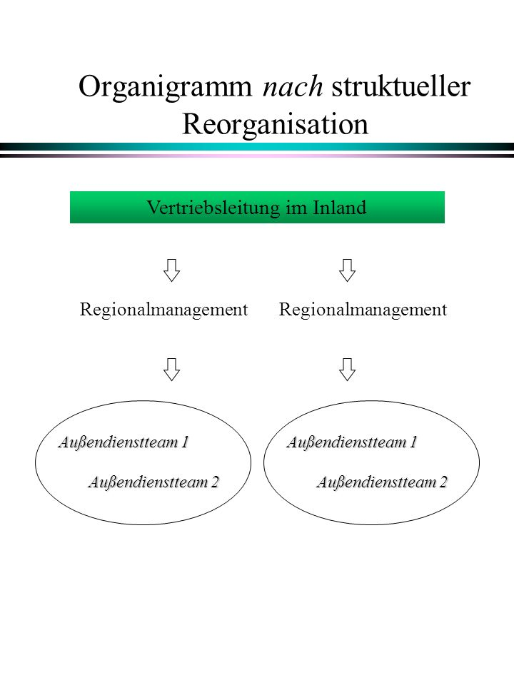 Organigramm nach struktueller Reorganisation