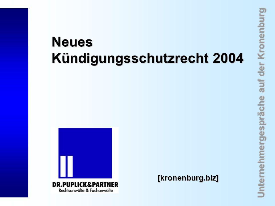 Neues Kündigungsschutzrecht 2004