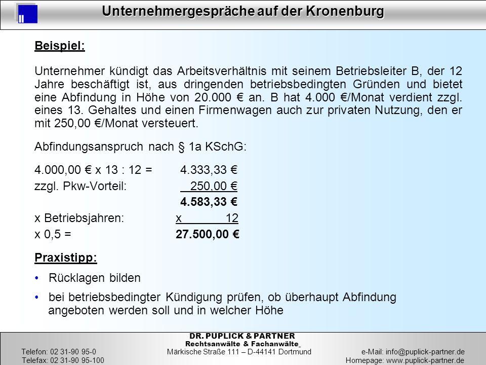 Abfindungsanspruch nach § 1a KSchG: 4.000,00 € x 13 : 12 = 4.333,33 €