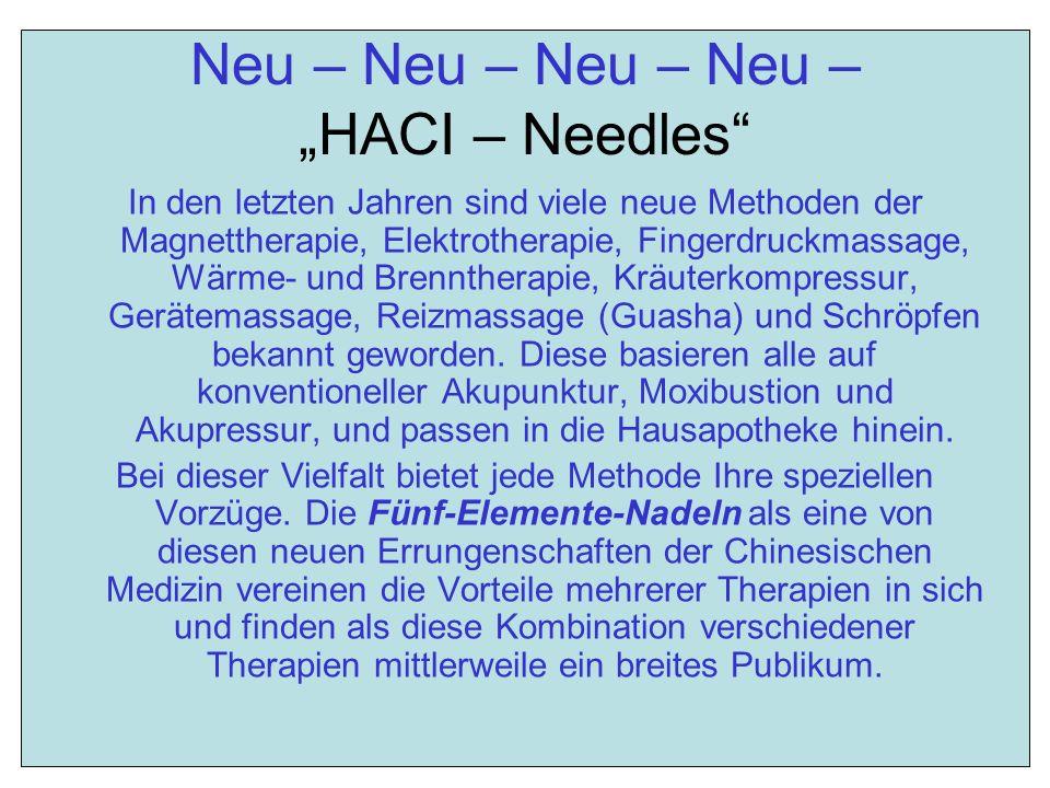 """Neu – Neu – Neu – Neu – """"HACI – Needles"""