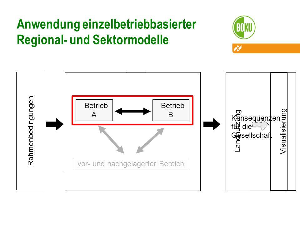 Anwendung einzelbetriebbasierter Regional- und Sektormodelle