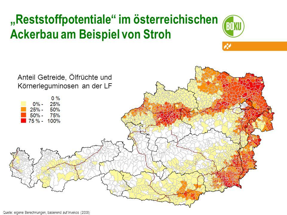 """""""Reststoffpotentiale im österreichischen Ackerbau am Beispiel von Stroh"""