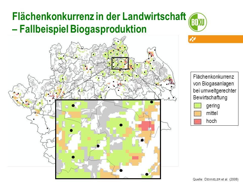 18 Flächenkonkurrenz in der Landwirtschaft – Fallbeispiel Biogasproduktion.