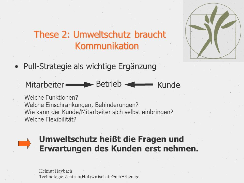 These 2: Umweltschutz braucht Kommunikation