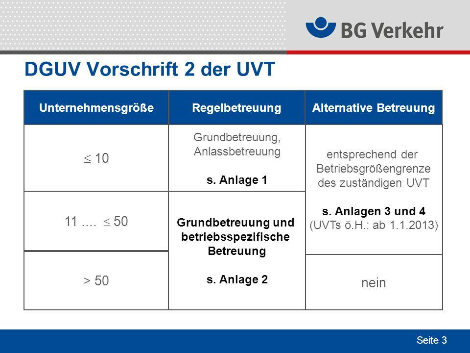 DGUV Vorschrift 2 der UVT