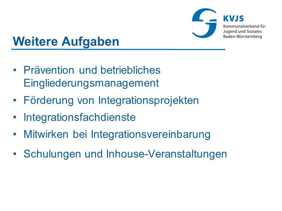 Weitere Aufgaben Prävention und betriebliches Eingliederungsmanagement