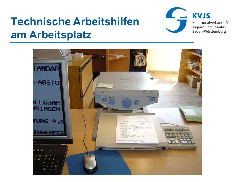 Technische Arbeitshilfen am Arbeitsplatz