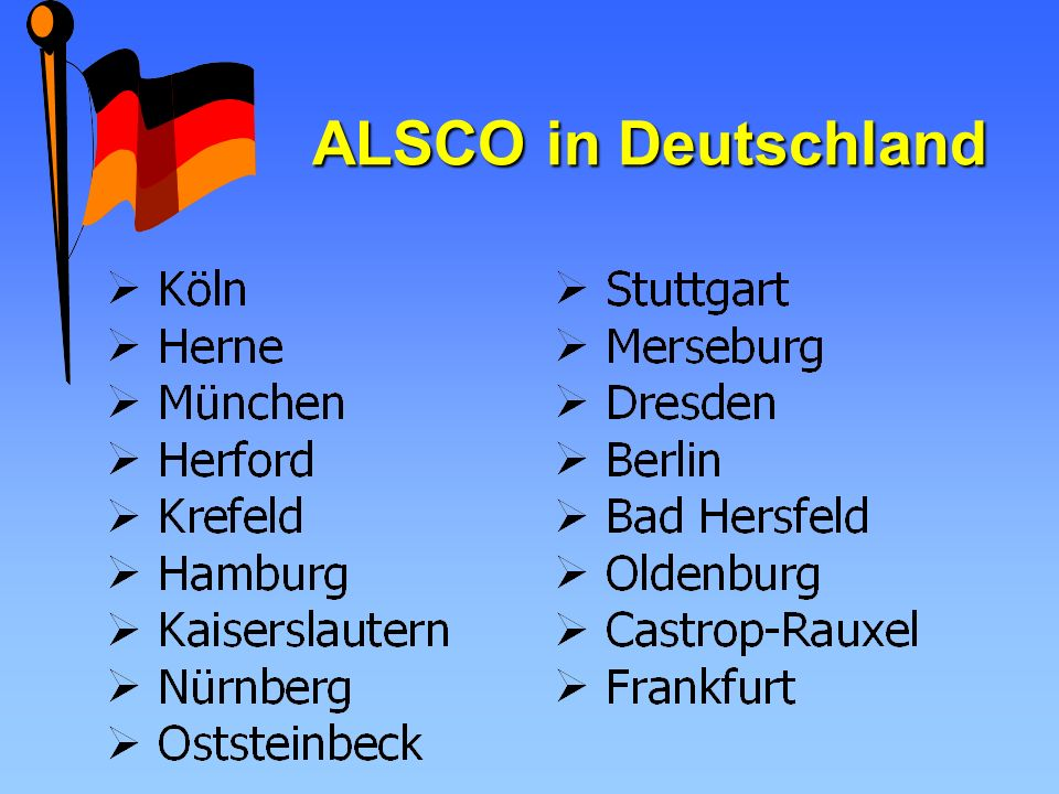 ALSCO in Deutschland