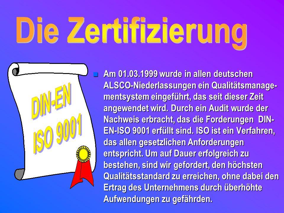 Die Zertifizierung DIN-EN ISO 9001