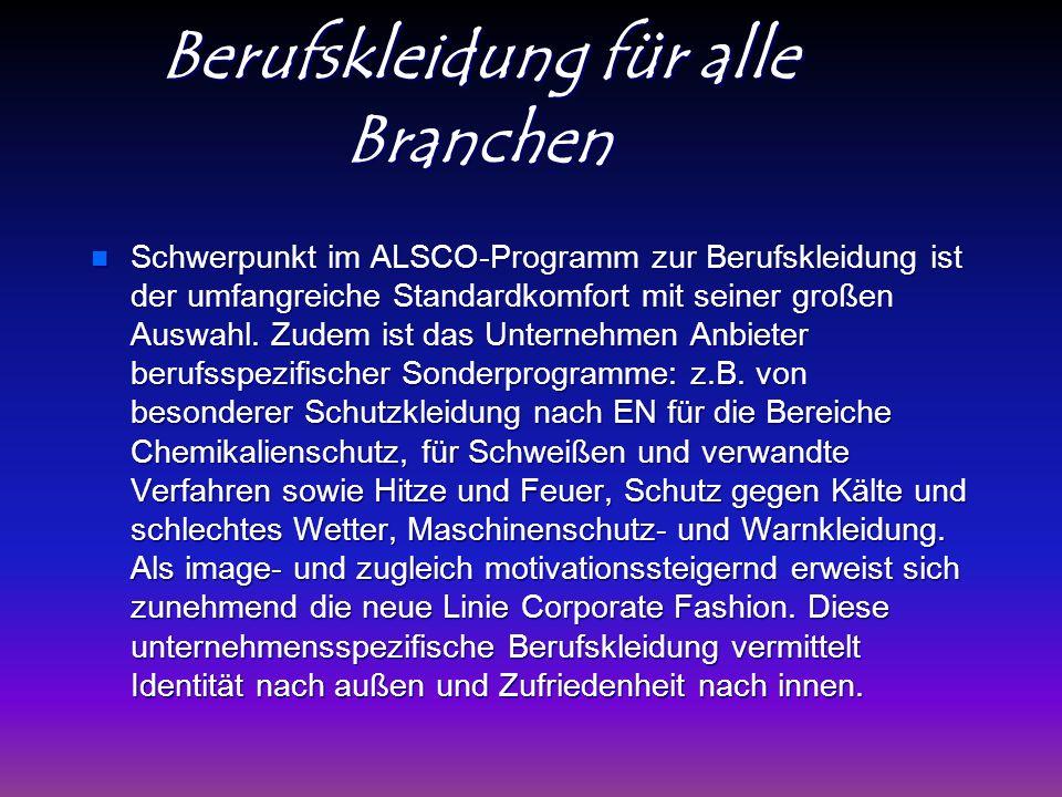 Berufskleidung für alle Branchen