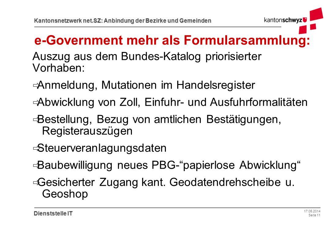 e-Government mehr als Formularsammlung: