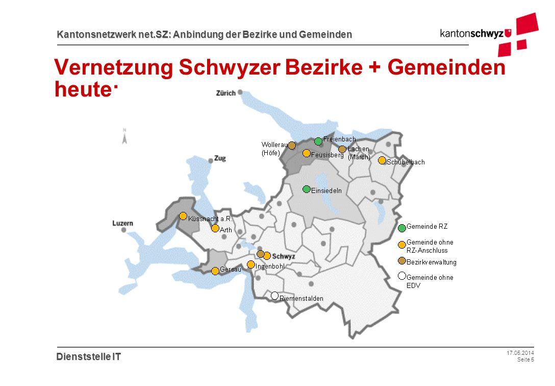 Vernetzung Schwyzer Bezirke + Gemeinden heute:
