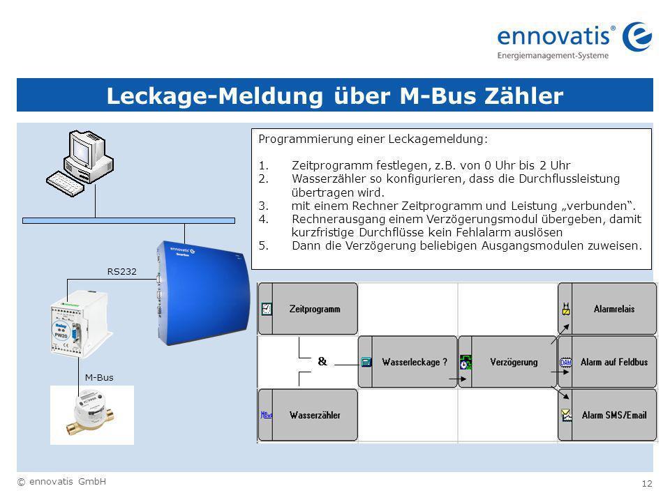 Leckage-Meldung über M-Bus Zähler
