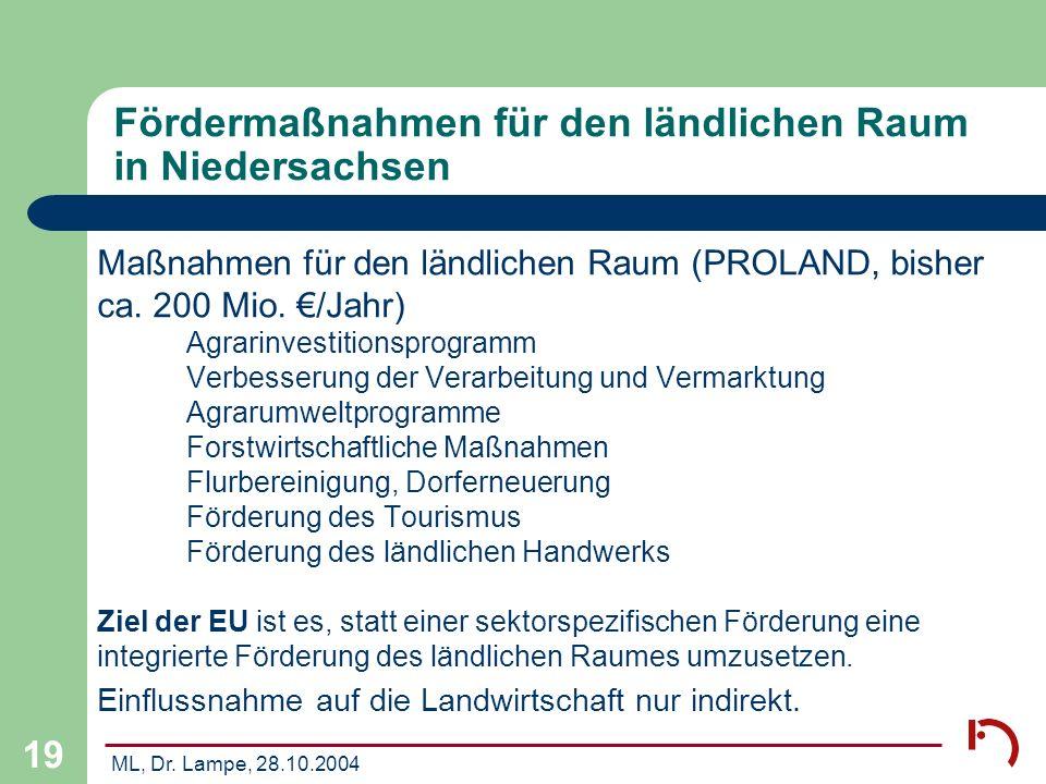 Fördermaßnahmen für den ländlichen Raum in Niedersachsen