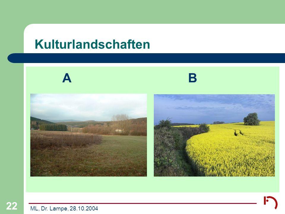 Kulturlandschaften A B ML, Dr. Lampe, 28.10.2004