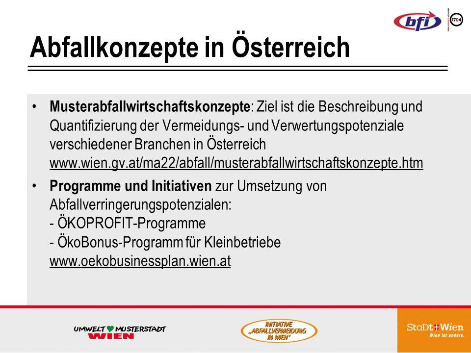 Abfallkonzepte in Österreich