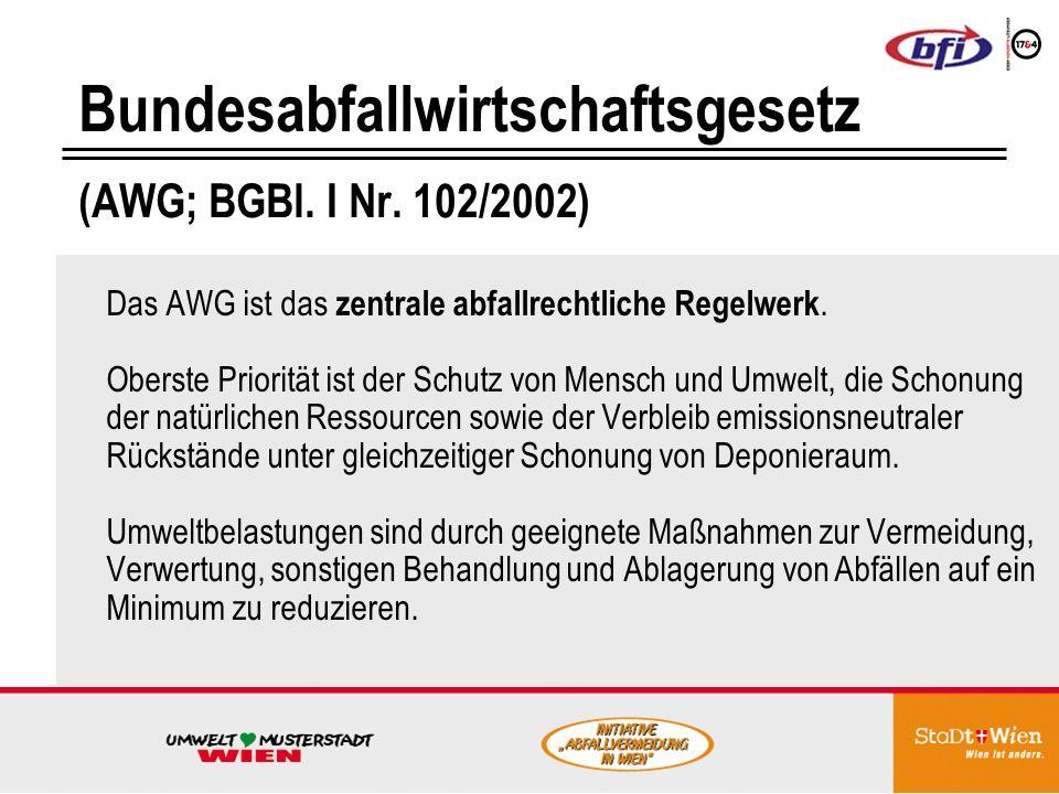Bundesabfallwirtschaftsgesetz (AWG; BGBl. I Nr. 102/2002)
