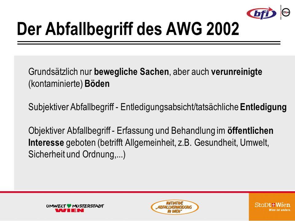 Der Abfallbegriff des AWG 2002