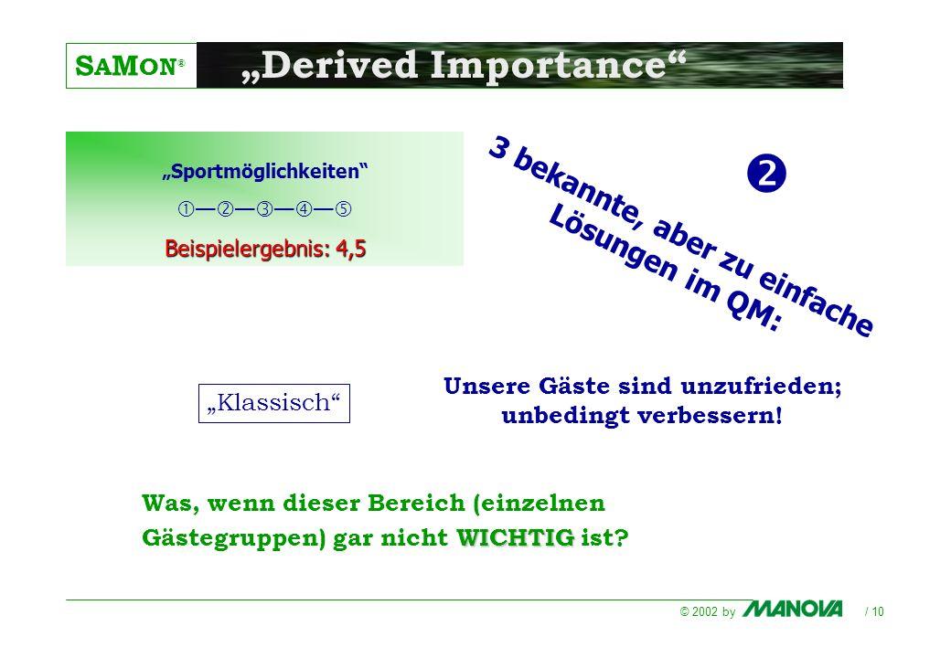 """ """"Derived Importance 3 bekannte, aber zu einfache Lösungen im QM:"""