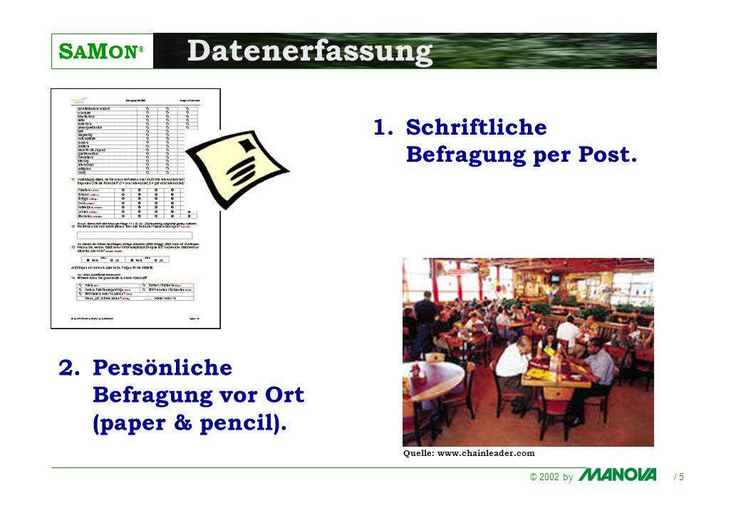 Datenerfassung Schriftliche Befragung per Post.