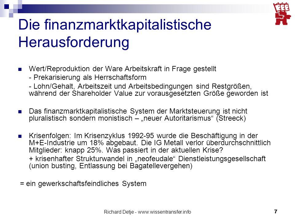 Die finanzmarktkapitalistische Herausforderung