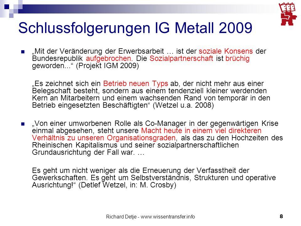 Schlussfolgerungen IG Metall 2009