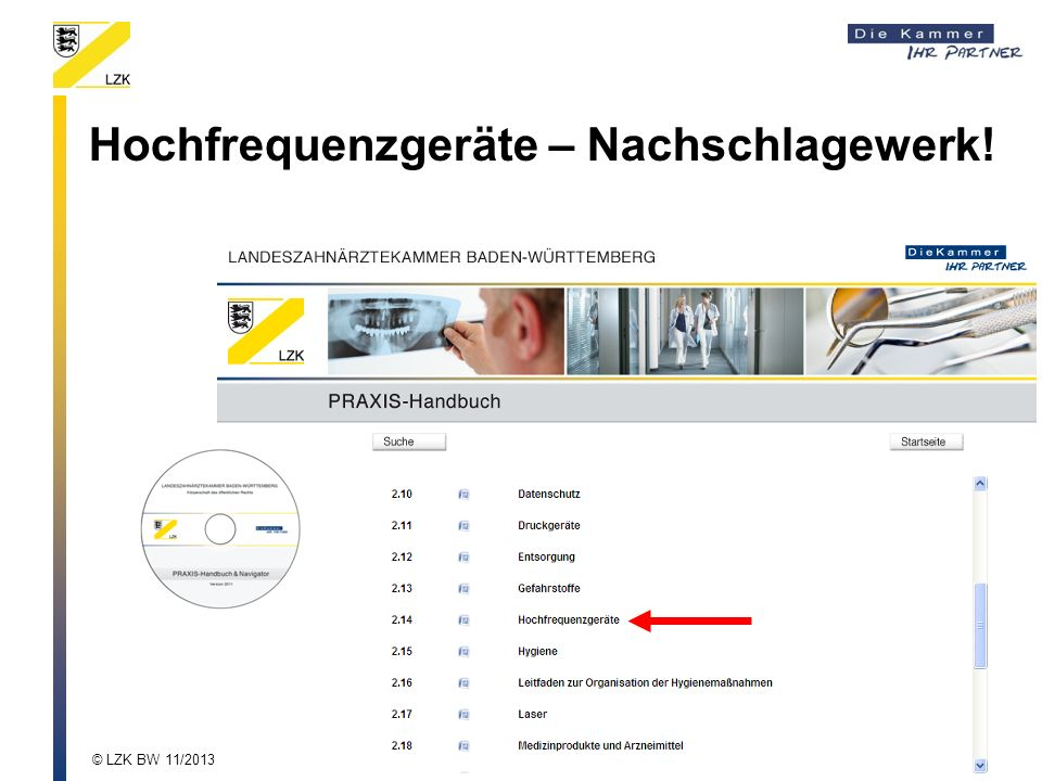 Hochfrequenzgeräte – Nachschlagewerk!
