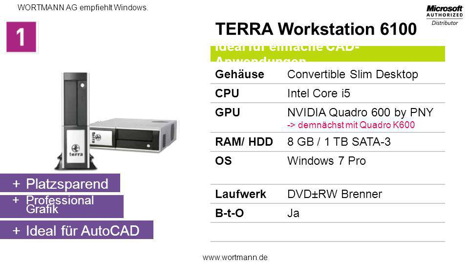 TERRA Workstation 6100 Platzsparend Ideal für AutoCAD