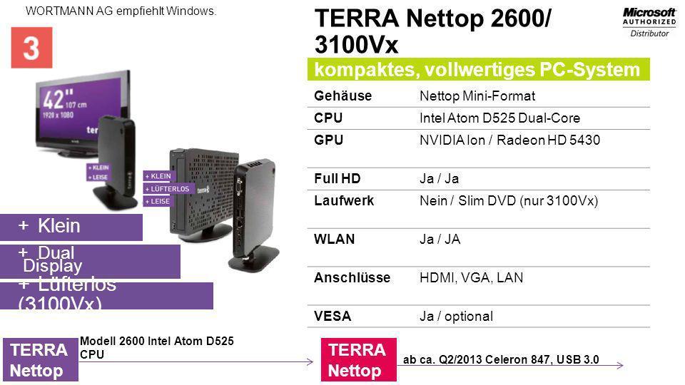 TERRA Nettop 2600/ 3100Vx Lüfterlos (3100Vx)