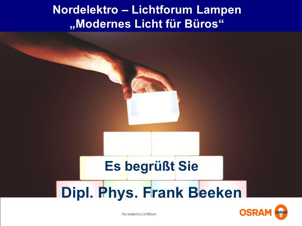 """Nordelektro – Lichtforum Lampen """"Modernes Licht für Büros"""
