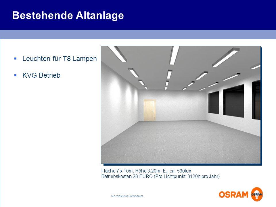 Bestehende Altanlage Leuchten für T8 Lampen KVG Betrieb