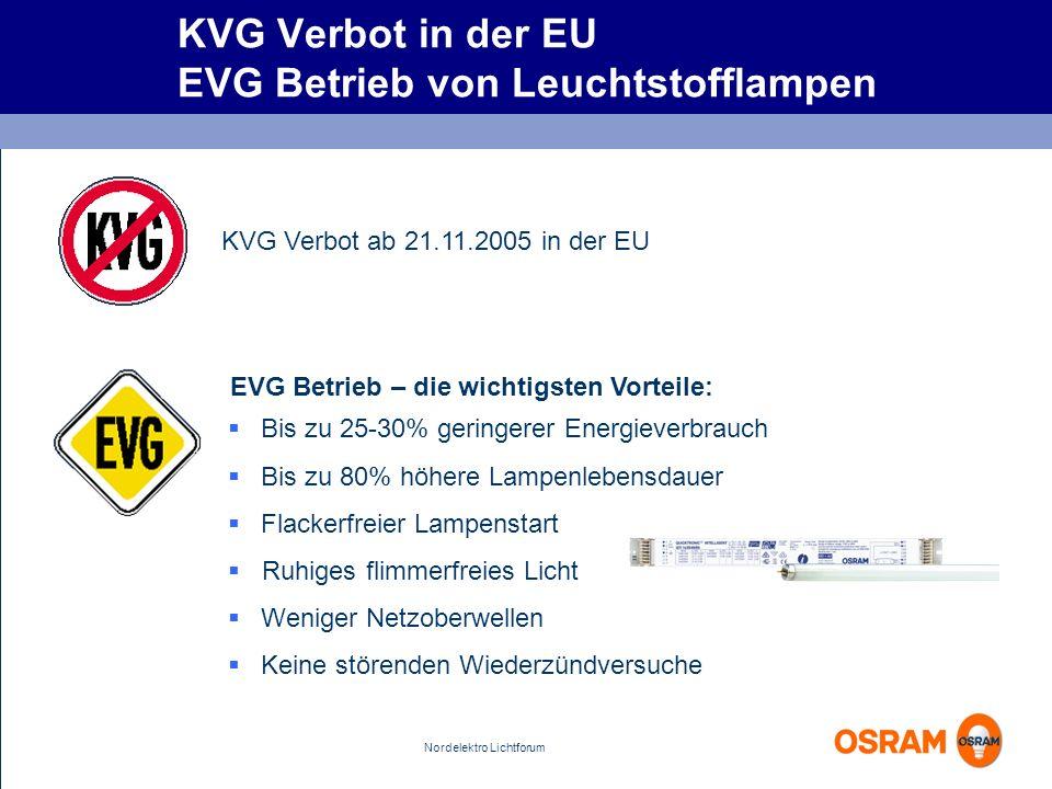 KVG Verbot in der EU EVG Betrieb von Leuchtstofflampen