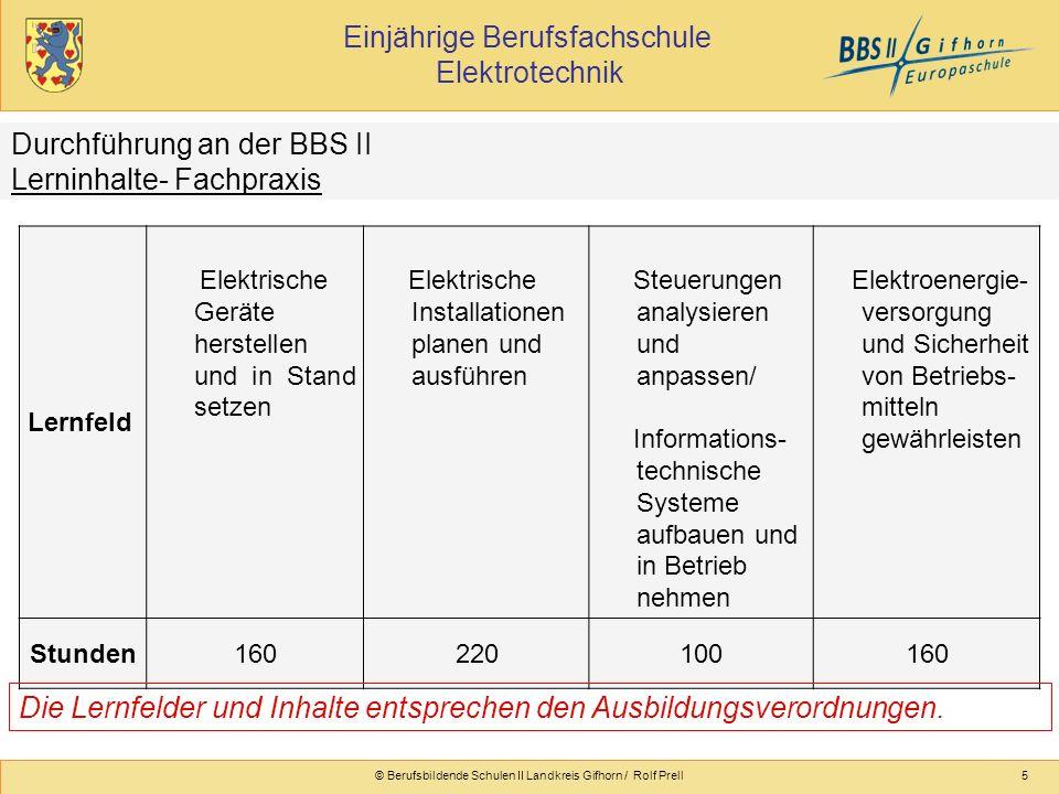 © Berufsbildende Schulen II Landkreis Gifhorn / Rolf Prell