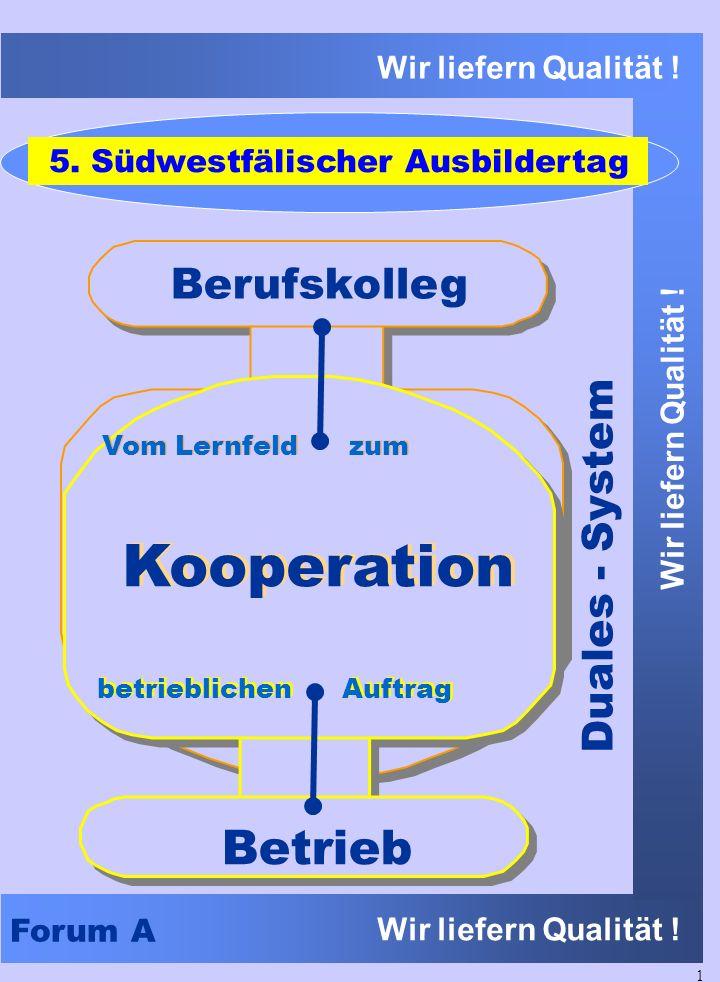 Kooperation Betrieb Berufskolleg Duales - System
