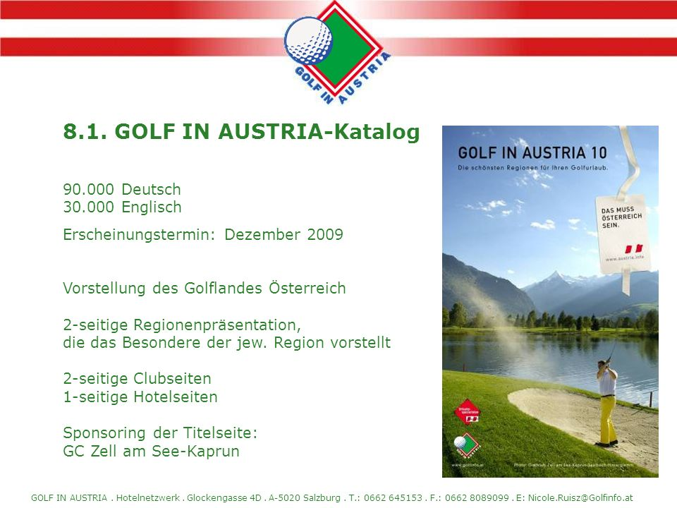 8.1. GOLF IN AUSTRIA-Katalog