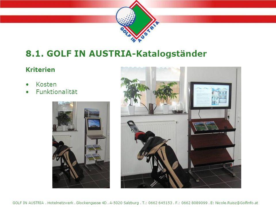 8.1. GOLF IN AUSTRIA-Katalogständer
