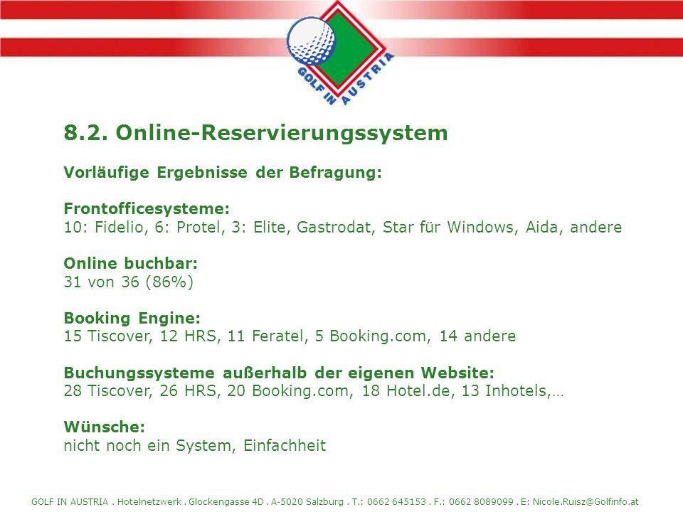 8.2. Online-Reservierungssystem